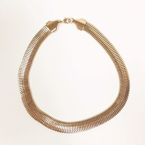 ANTHROPOLOGIE l Gold Chunky Collar Necklace